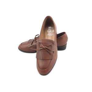 Quincy brown top tassels feminine bow loafers
