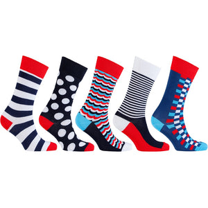Men's 5-Pair Cool Mix Socks-3045