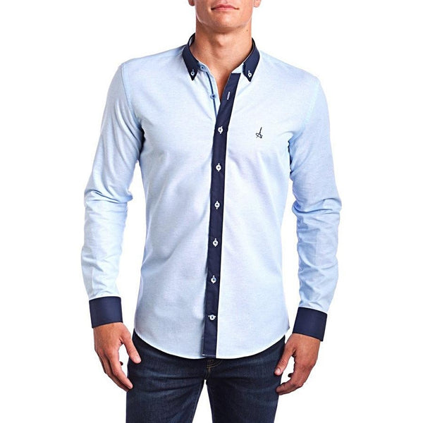 Passion Blue Slim Fit Dress Shirt