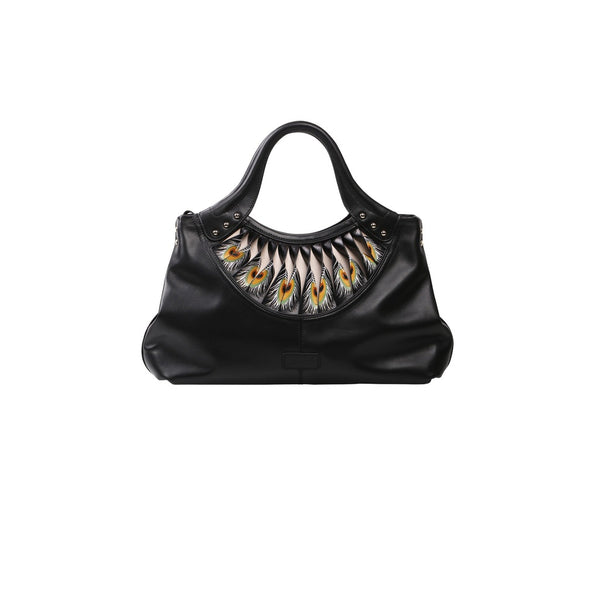 Feather Black Tote