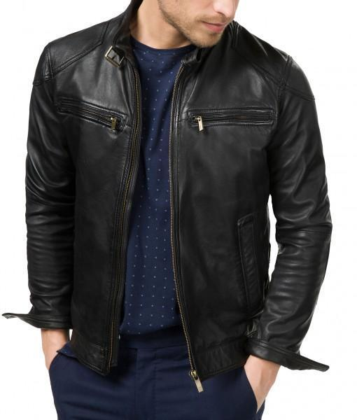 Bluster Men Biker Leather Jackets - Xosack