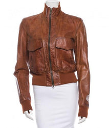 Bossy Women Bomber Leather Jackets - Xosack