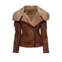 Super Clemzy Women Classic Leather Jackets