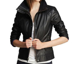 Diamond Women Classic Leather Jackets - Xosack