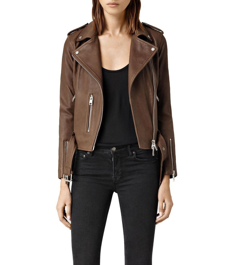 Nancy Women Classic Leather Jackets - Xosack