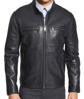 Obey Men Classic Leather Jackets - Xosack