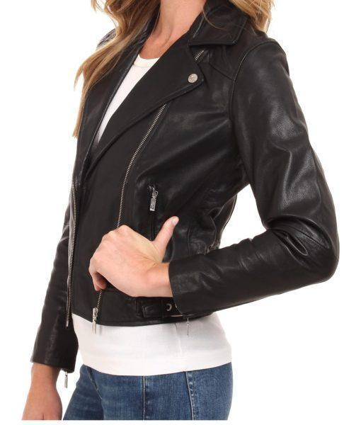 Petrina Women Classic Leather Jackets - Xosack