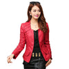 Autumn leather jacket women casual long