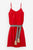 "silk dress ""sophia"" fire red - Bellamy Gallery"