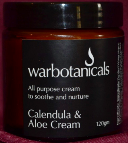Warbotanicals Calendula and Aloe Moisturiser 120g - Here and There Makers