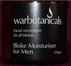 Warbotanicals Bloke Moisturiser 120g - Here and There Makers