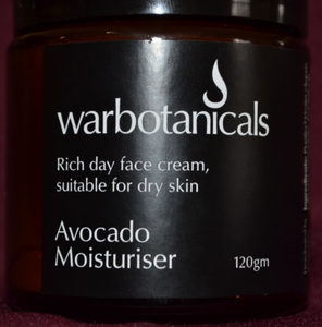 Warbotanicals Avocado Moisturiser 120g - Here and There Makers