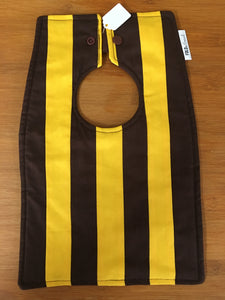 Footy Bib - Hawthorn Colours - Here and There Makers