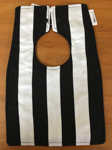 Footy Bib - Collingwood Colours - Here and There Makers
