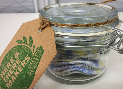 Makeup Wipes Jar 10 - HTM - Here and There Makers