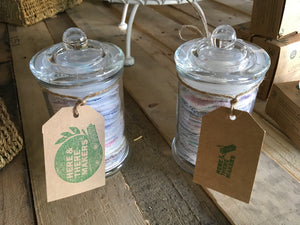 Makeup Wipes Jar 30 - HTM - Here and There Makers