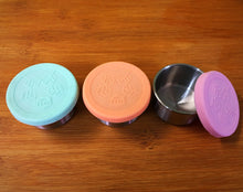 Stainless Steel Mini Containers Spring Pastels - Leak Resistant Set of 3 - Here and There Makers