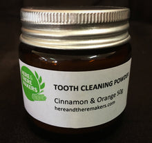 Tooth Cleaning Powder Cinnamon & Orange - Here and There Makers