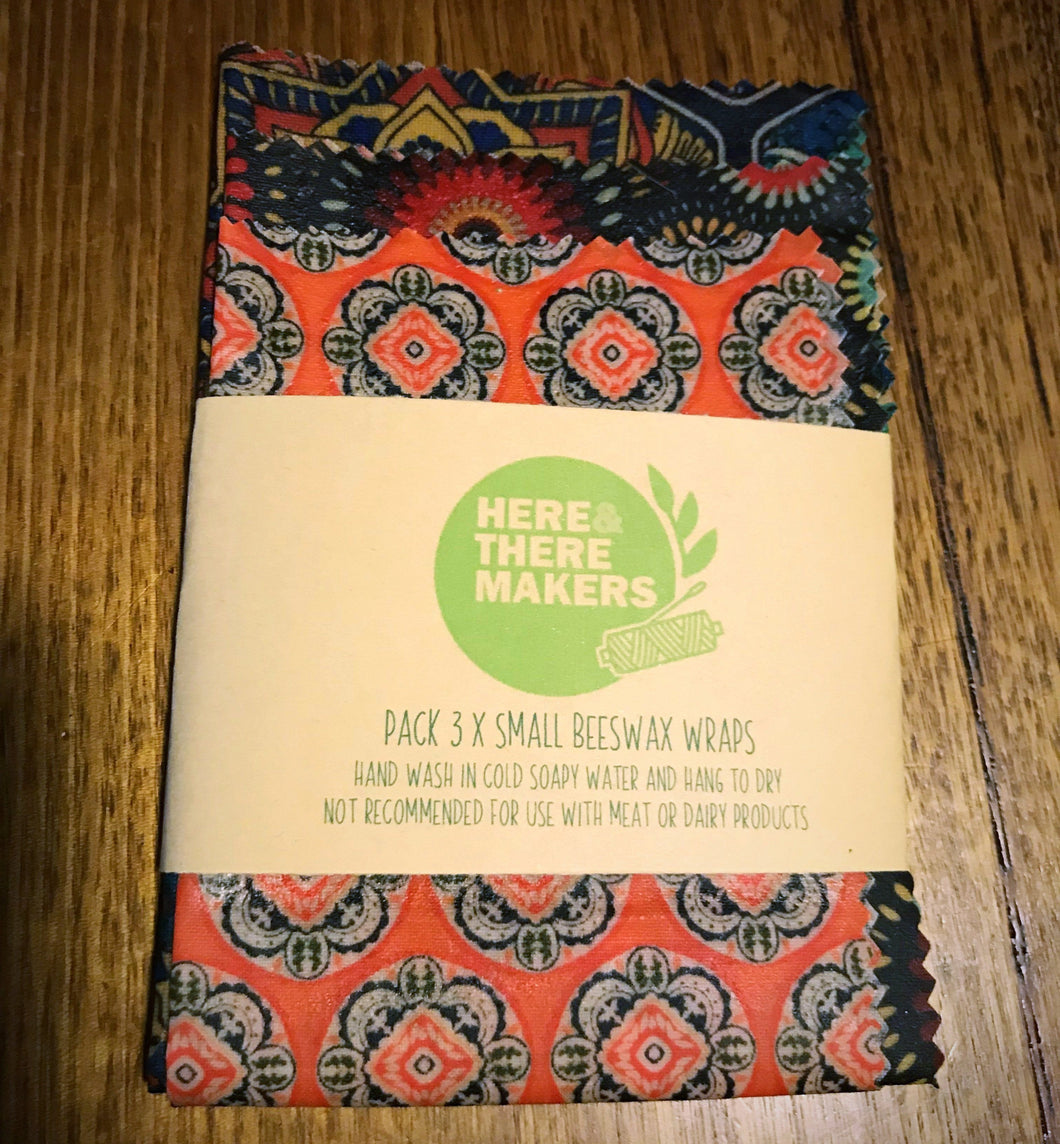 Beeswax Wraps - 3 Pack - Here and There Makers