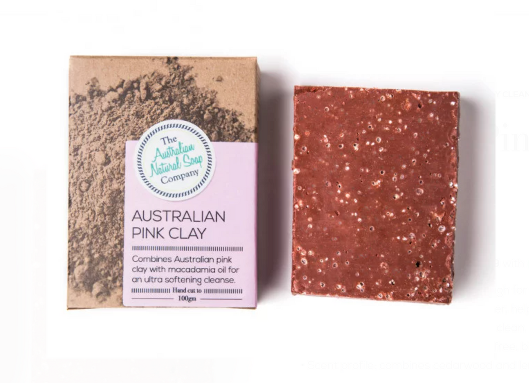 Face Cleanser Bar Australian Pink Clay - 100g
