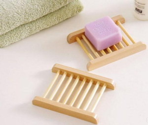 Soap Tray Natural Bamboo - Here and There Makers