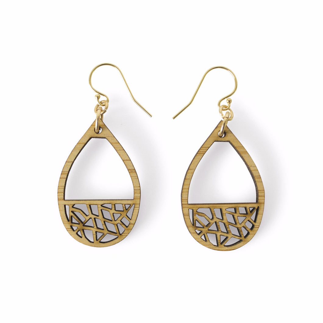 Teardrop Dangle Earrings One Happy Leaf