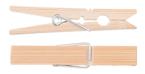 Clothes Pegs Bamboo Pack of 20 - Here and There Makers