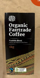 Foothills Blend Organic Fair Trade Coffee 1KG