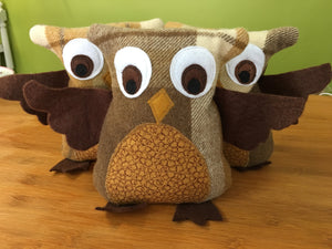 Owl Softie Heat Pack HTM - Here and There Makers