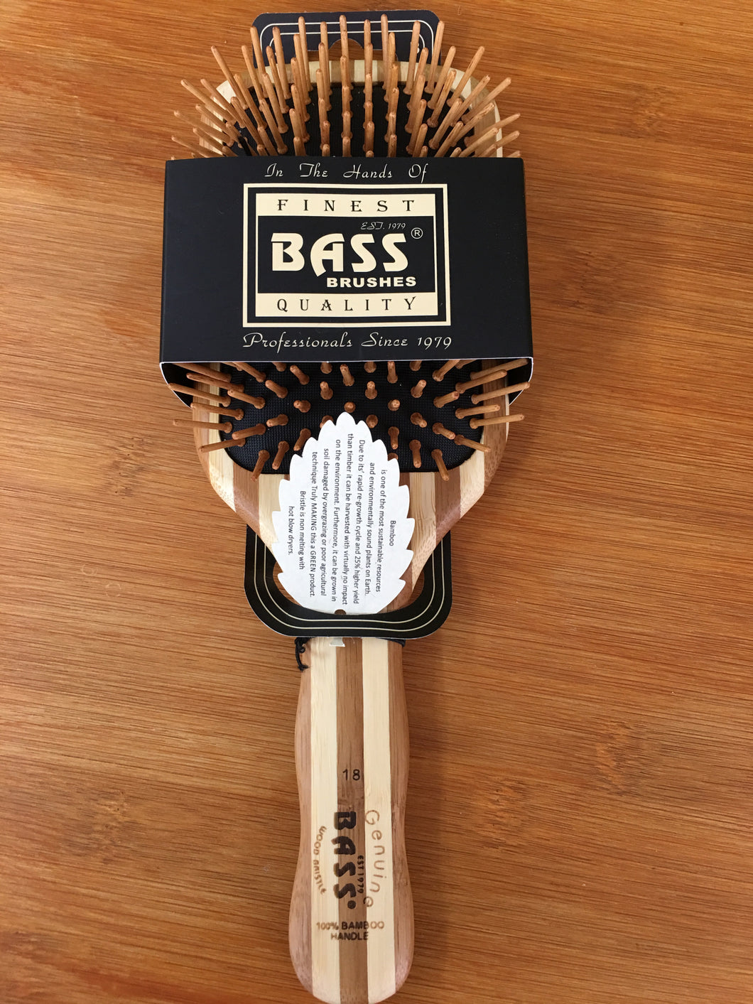 Hair Brush Bamboo Square Paddle - Here and There Makers