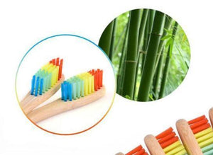 Toothbrush Bamboo Rainbow Bristle - Here and There Makers