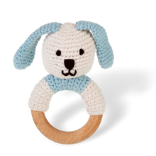 Wooden Ring Rattle Bunny