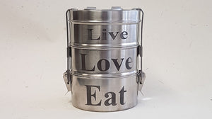 Tiffin Tin Food Containers Small - Here and There Makers