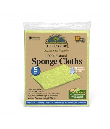 Sponge Cloths - If You Care 5 Pack - Here and There Makers