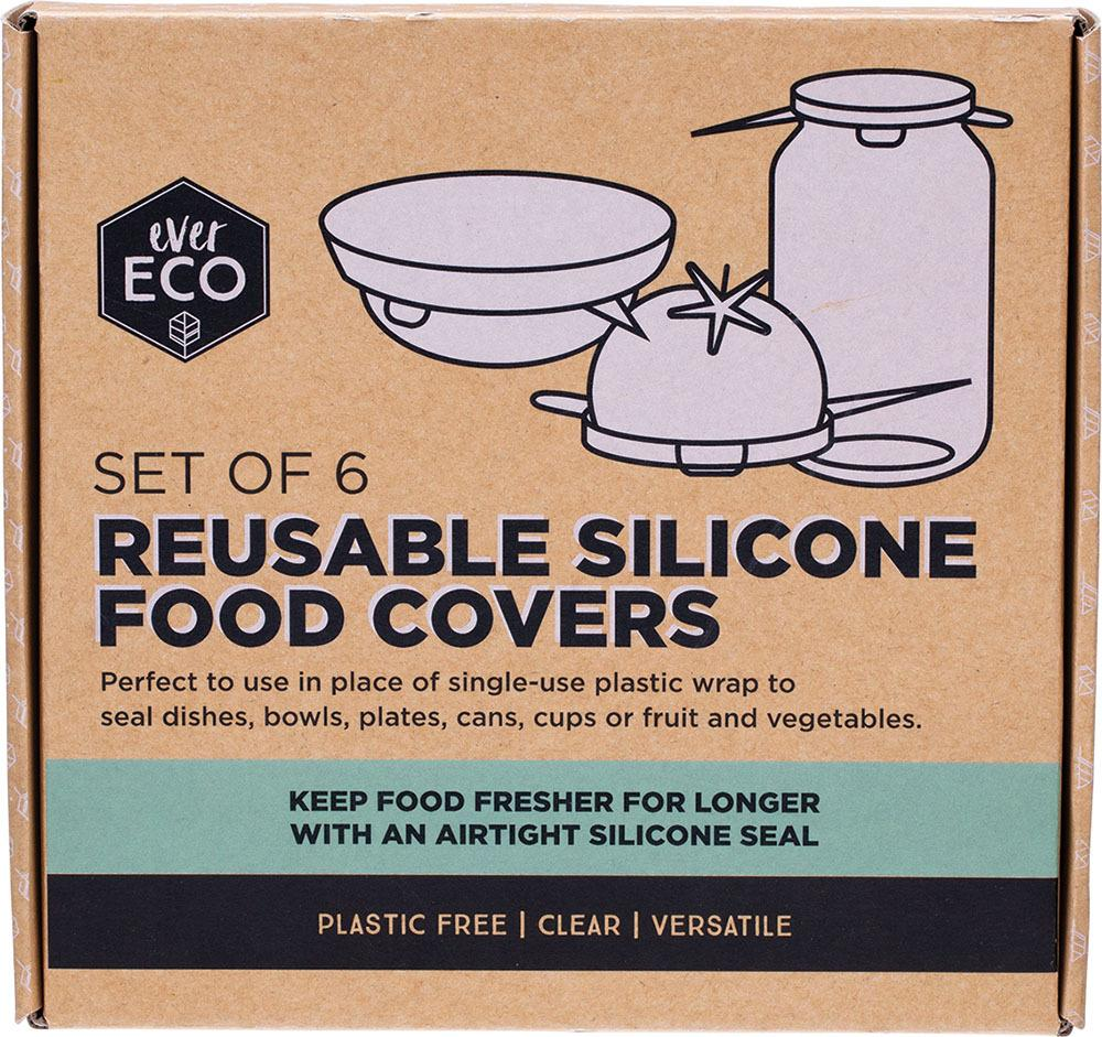 Reusable Silicone Food Covers Set 6 - Ever Eco - Here and There Makers