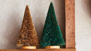 Christmas Tree Wood Base Small
