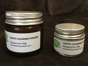 Tooth Cleaning Powder Peppermint - Here and There Makers