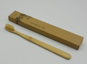 Toothbrush Bamboo Adult Plain Bristle - Here and There Makers