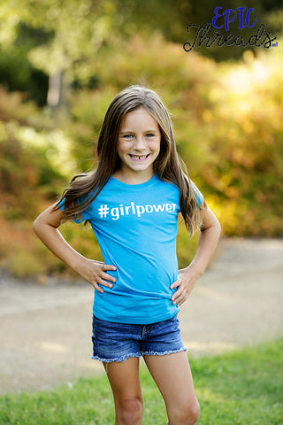 Hashtag Girlpower T-Shirt **Child Sizes**