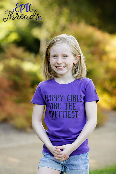 Happy Girls Are The Prettiest T-Shirt **Adult Sizes**