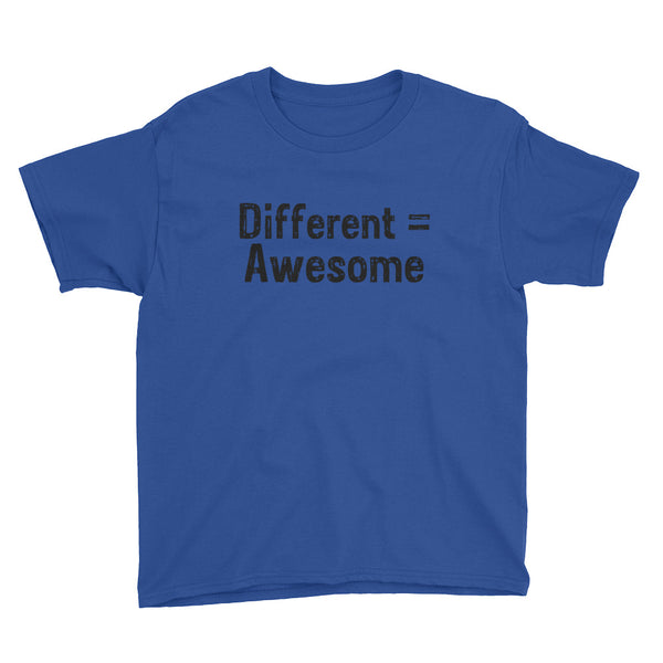 Different Equals Awesome T-Shirt **Child Sizes**