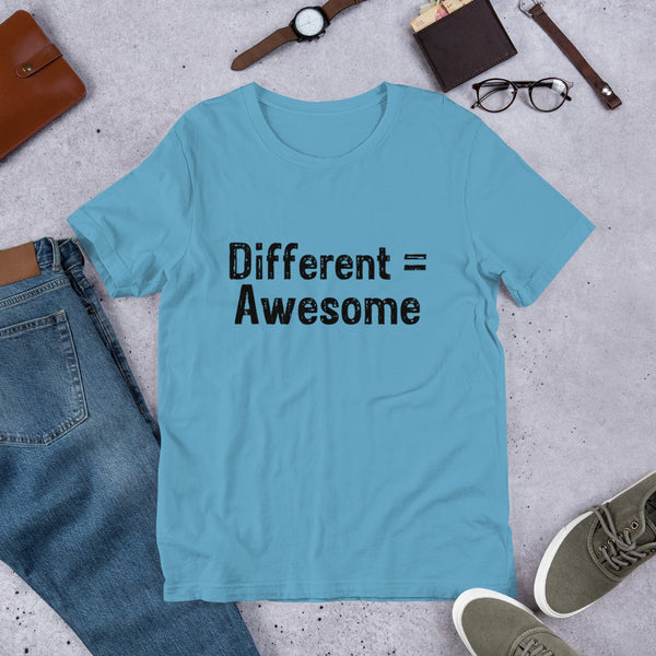 Different Equals Awesome T-Shirt **Adult Sizes**