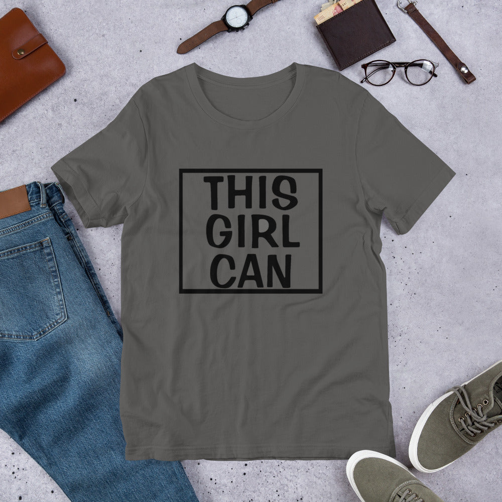 This Girl Can T-Shirt **Adult Sizes**