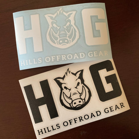 HOG Vinyl Decal (New logo)