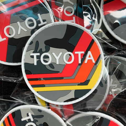 Retro TOYOTA Snow Camo PVC Patch
