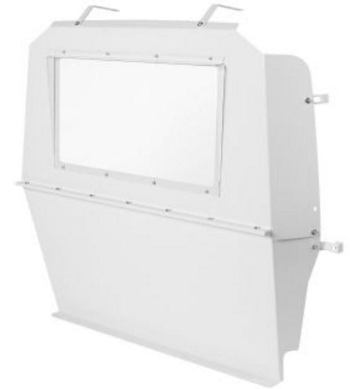 Weather Guard  Bulkhead Divider 96513-3-01 Type - Full Bulkhead  Door Style - No Door  Window Style - Transperent  Color - White  Material - Steel  Includes Hardware - Yes  Installation Type - Bolt-On  Drilling Required - Yes
