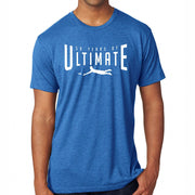 50th Anniversary of Ultimate: 'Layout' Men's SS Tri-Blend Tee - Vintage Royal - by Next Level