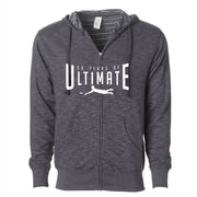 50th Anniversary of Ultimate: 'Layout' Men's Baja Stripe Hoody - Humo - by Independent Trading Co.