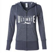 50th Anniversary of Ultimate: 'Layout' Women's Baja Stripe Hoody - Humo - by Independent Trading Co.