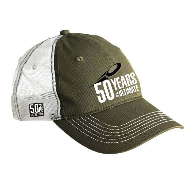 50th Anniversary of Ultimate: '50 Years' Unstructured Trucker -Olive